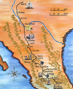 Camino-Real-de-Tierra-Adentro colored map