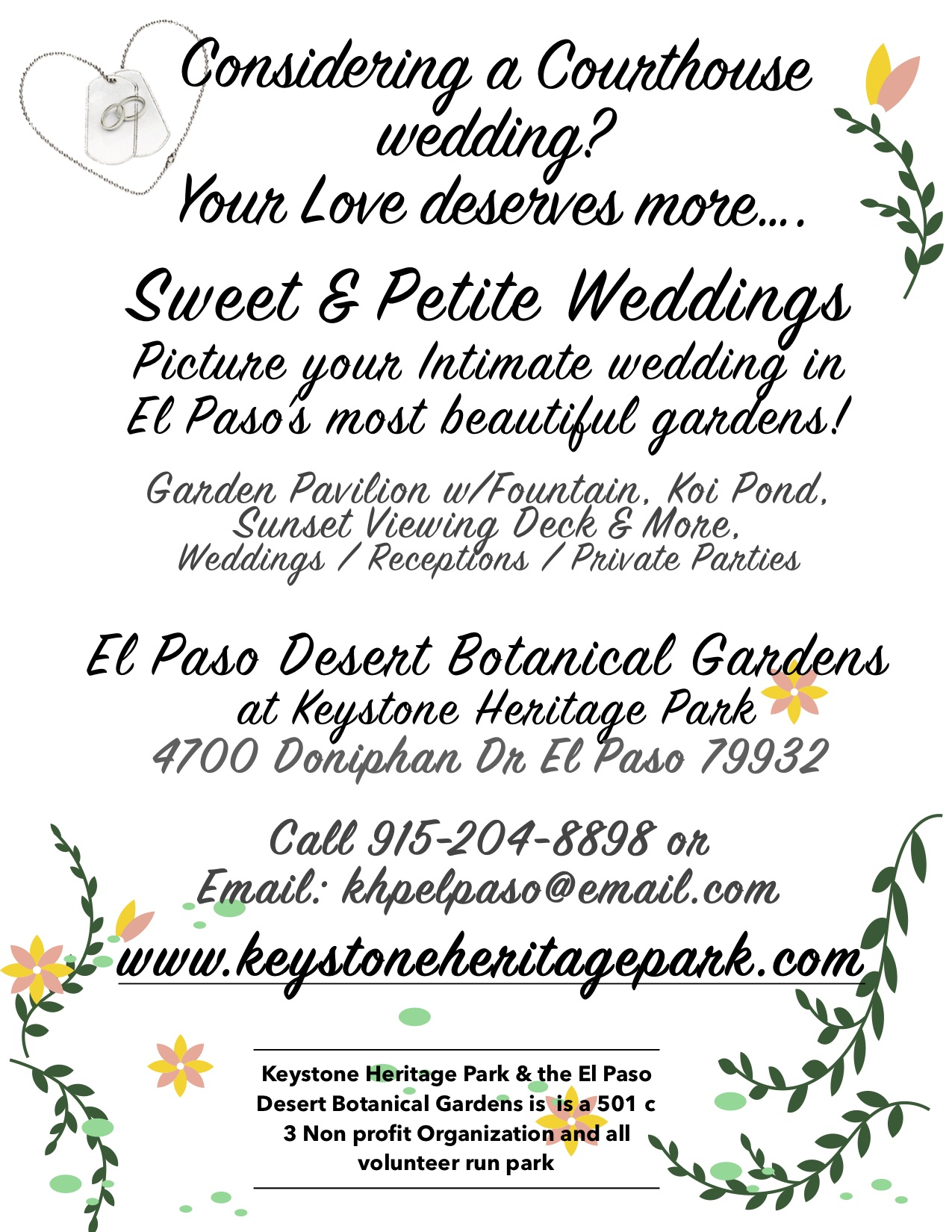 Sweet and Petite weddings Ad 2